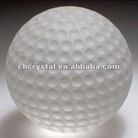 frosted glass crystal golfball ball globe, glass golf ball ball