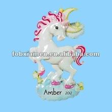 2012 Hot festival ornaments resin unicorn