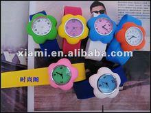 silicone detachable flower slap watch