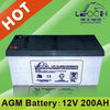 12v 200ah battery with long life standby for Telecom LPL12-200