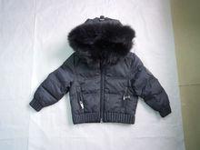 Wholesale & Retail Men Raccoon Fur Hooded Down Coat/jacket--Black