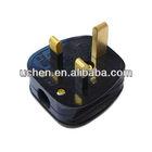 uk plug/13A plug 3 flat pin British Plug with BS 1363