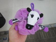 promotional stuffed soft zebra plush toy with bathe ball