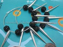 Shape Jewelry Rhinestone beaded&Spikes Basketballs wives earrings!! 2012 Poparazzi Basketball Wives earrings!! Lowest!! !!