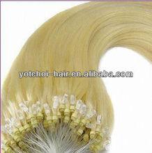 "2012 hot sale 18"" silky straight micor loop hair extension brazilian human hair"