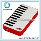 Piano Keys Silicone Skin White Cover Rubber Case for iPhone 5G