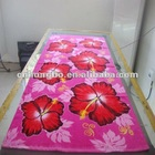 custom designs terry velour beach towel in various materials