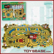 Puzzle train track toys