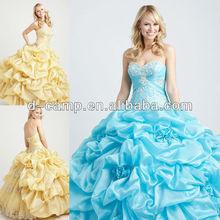 QU-163 Newest lace formal bridesmaid dress patterns 2012