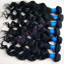 fashion wavy hair weave 100% virgin brazlian remy hair wholesale