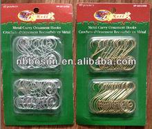 "1.8""*40pc christmas fancy ornament hooks"