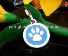 footprinted popular dog tag
