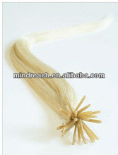First class 16 inch silk straight Chinese virgin I-tip hair extension
