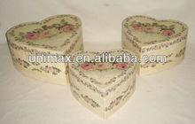 FWS08757 unique heart shape box metal gift