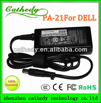 Laptop AC Adapter/Power Supply/Charger+US Power Cord for Dell PA-21 65W 3.34A