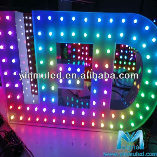 RGB full color individual led pixel light