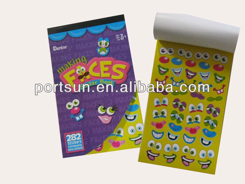 designer e-friendly paper sticker album for kids