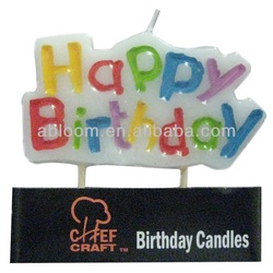 Colorful fireworks birthday candle in Cute Shape