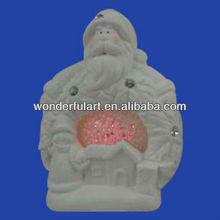 porcelain santa clause white christmas balls