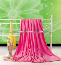 Pure color blanket coral fleece blankets winter blanket