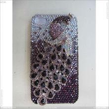 Full Luxurious peacock diamond case for Apple iPhone 4/4s/4g P-IPH4HCDA009