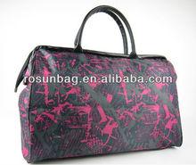 Black rose stylish traveling bags for girls