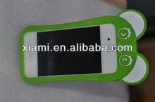 Fashion silicon ganba panda case for iphone 4