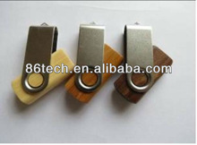 Top selling swivel wooden flash drive usb with key ring
