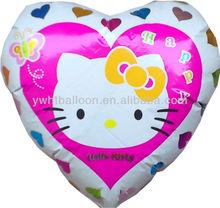 Hellokitty Heart Foil Balloons It's Popular Model in Nowdays