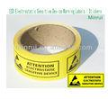 Eds sensibles electrostática dispositivo de las etiquetas de advertencia/pegatinas, eds las etiquetas de advertencia