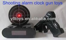 funny shooting alarm clock gun