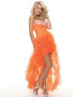 2013 Latest Cute Plus Size High Low Hem Prom Dresses