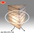 Handicraft bamboo structure paper table lamp