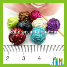 2012 newest mixed color acrylic flower beads