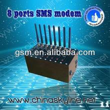 Bulk SMS ,8 ports GSM Modem pool ,edge 2.75g usb modem