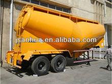 Hot-sale Dual Axles 36 Tons Loading V Shape Construction Cement Tanker Transport Trailer In Truck Semi Trailer or Semi-trailer T