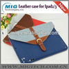 Fashion leather jean case for ipad 2 3 with nice belt, leather case for ipad