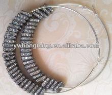 2012 Best-selling DIY basketball wives earring gun black,10*10mm sequare crystal spacer hoop earrings wholesale!!High quality!!