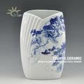 oriental centres de vases en céramique bleu et blanc peint à la main