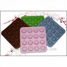 16 unidades del diseño del oso / alcancía en forma de molde de pastel de silicona para hornear