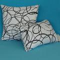 Coussins décoratifs d'éparpillement de broderie de ruban imprimés par coton 100%
