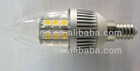 4W C37 E14/E27 5050SMD high quality LED candle light