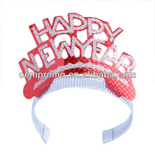 Different color Wholesale PVC happy new year Tiaras