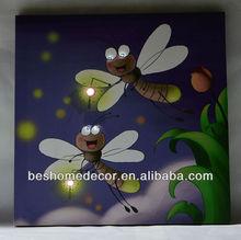 light up cartoon bees wall art, kid's room decoration led light, led kids room hanging decoration