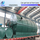 5/6/8/10T pollution-free high 45% oil-yield used tyre/plastic recycling plant to get fuel oil with CE certification