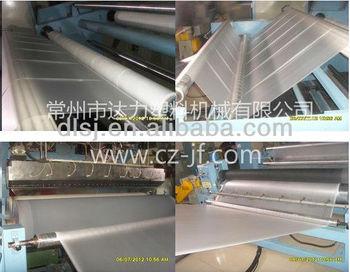 Plastic film casting machine