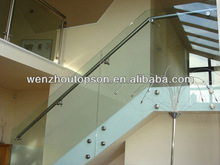 stainless steel glass stair with handrail