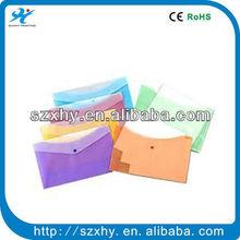 Document bag button closure a4 plastic envelope