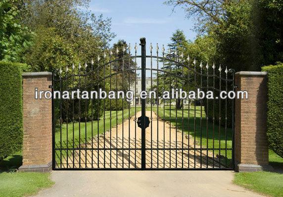 cerca de jardim ferro : cerca de jardim ferro:Elegante casa farm jardim portão de ferro forjado g-0155-Cercas