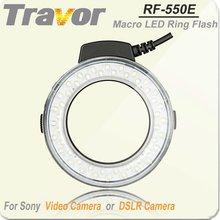 New Hot Self-designed Macro Ring Flash for Sony, Travor RF-550E Led Camera Flash